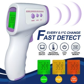 Link to Baby Adult Digital Three-color Backlight LCD Display Thermometer IR Infrared Forehead No-contact Body Temperature - White Similar Items in Health & Baby Care
