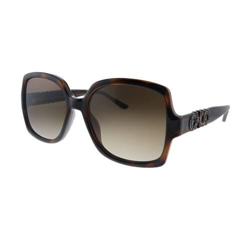 Jimmy Choo JC Sammi/G/S 086 Womens Dark Havana Frame Brown Gradient Lens Sunglasses