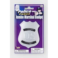 Jumbo Deputy Marshall Police Badge Costume Accessory - Gold
