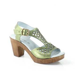 Eric Sandals NEW Green Shoes Size 7M Ankle Strap Leather Sandals