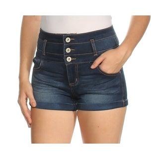 Womens Blue Short Juniors Size 1