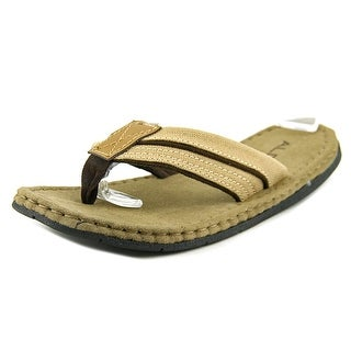 Aldo Alisander-36 Men Open Toe Canvas Tan Thong Sandal