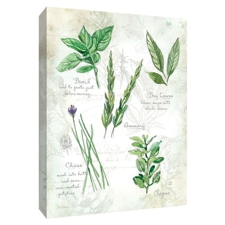 "PTM Images 9-148558  PTM Canvas Collection 10"" x 8"" - ""Fresh Herbs I"" Giclee Herbs Art Print on Canvas"