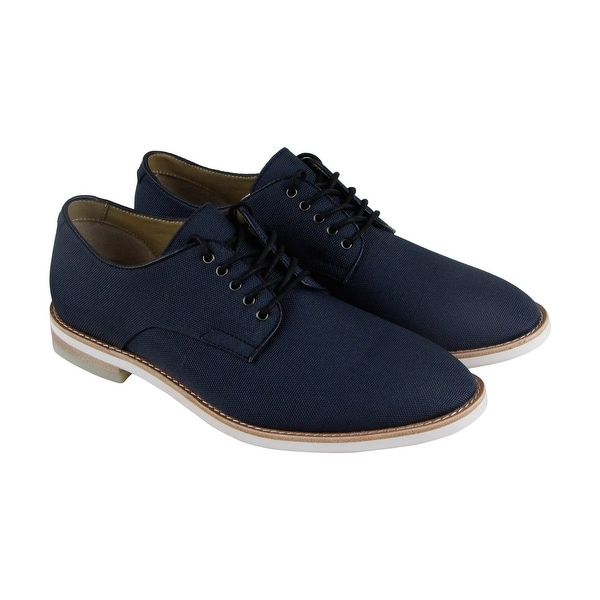 Calvin Klein Aggussie Mens Blue Nylon Casual Dress Lace Up Oxfords Shoes