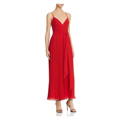 FAME AND PARTNERS Red Sleeveless Maxi Dress 2