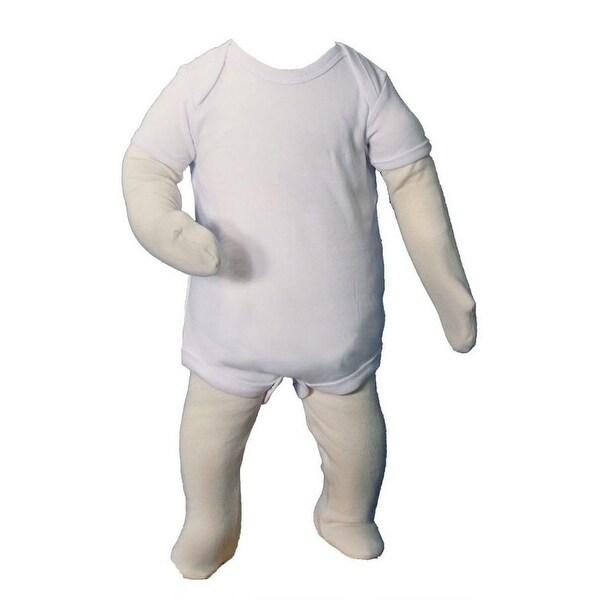 Baby Unisex Cotton Knit Short Sleeve Christening Bodysuit