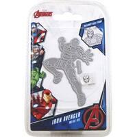 Marvel Avengers Die And Face Stamp Set-Avengers Iron Avenger