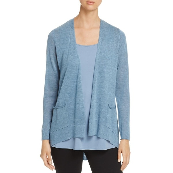 fdcc5038b2dd0 Shop Eileen Fisher Womens Petites Cardigan Sweater Tencel Slouchy ...