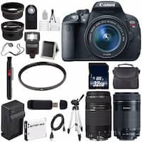 Canon EOS Rebel T5i 18 MP CMOS Digital SLR Camera (International Model) + EF-S 55-250mm Lens Bundle