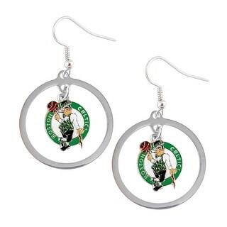 Boston Celtics Hoop Logo Earring Set NBA Charm
