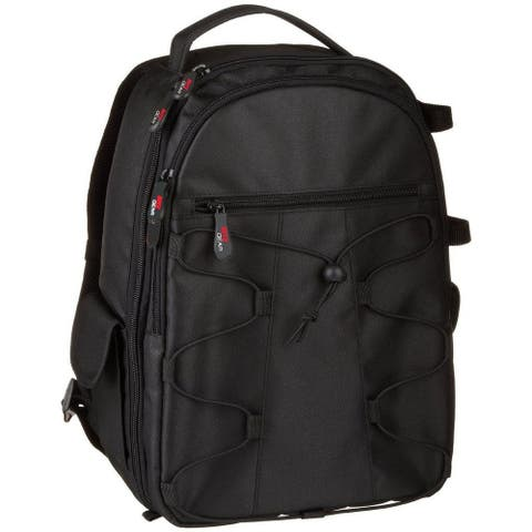 Ritz Gear SLR/DSLR Camera Backpack - Holds 2 SLR Camera Bodies, 3-4 Lenses, and Additional Accessories - Black
