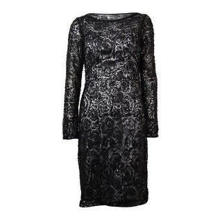Sue Wong Women's Sequined Mesh Overlay Dress - 2