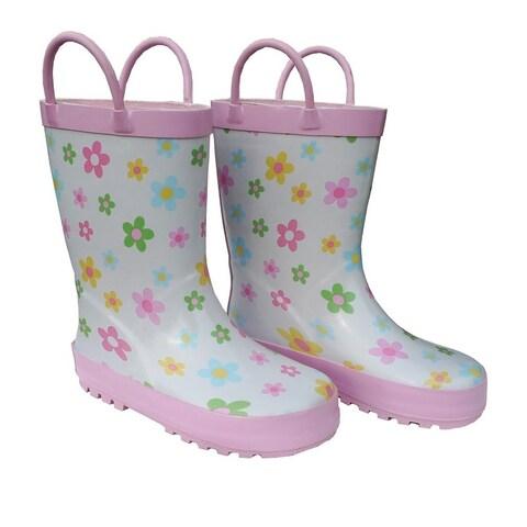 Pastel Posies Toddler Girls Rain Boots 5-10