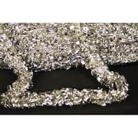 Christmas at Winterland WL-TGAR-100-SLV 100 Foot Silver Metallic Tinsel Garland - N/A