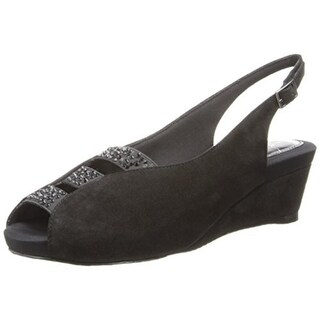 J. Renee Womens Hannel Pumps Suede Wedge