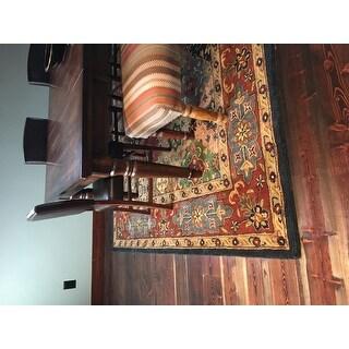 "Safavieh Handmade Heritage Timeless Traditional Red Wool Rug - 7'6"" x 9'6"""