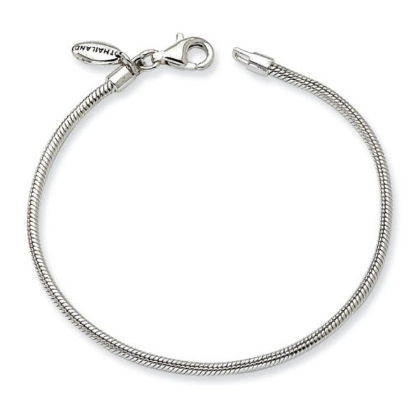 Sterling Silver Reflections Kids Lobster Polished Bracelet (2mm) - 7.75""