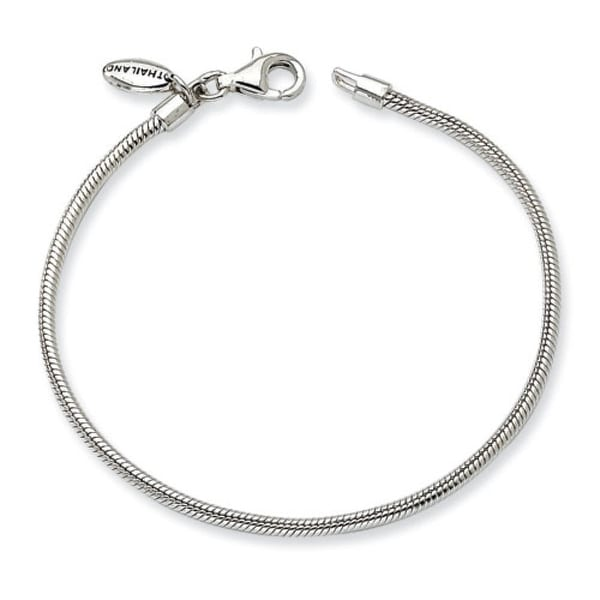 "Sterling Silver Reflections Kids Bead Bracelet (2mm) - 6.5"""