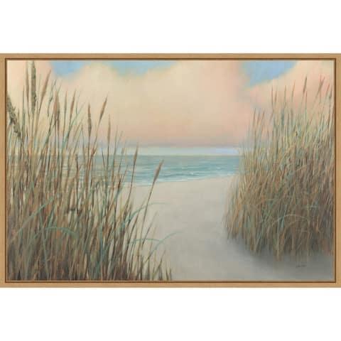 Beach Trail I by James Wiens Framed Canvas Art