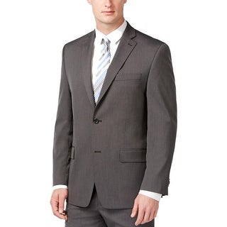 MICHAEL Michael Kors Mens Two-Button Blazer Pindot Notch Lapel