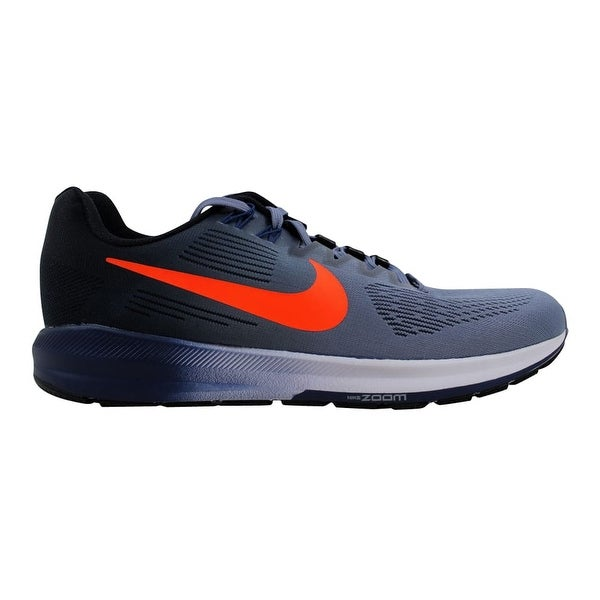 1744be52c738 ... Men s Athletic Shoes. Nike Men  x27 s Air Zoom Structure 21 Dark Sky  Blue Total Crimson