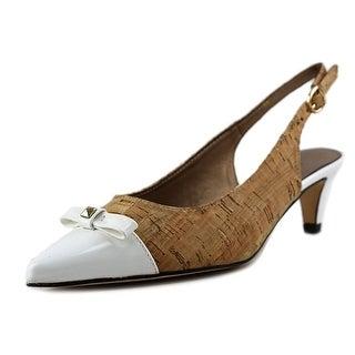 Vaneli Tiffany W Pointed Toe Canvas Slingback Heel