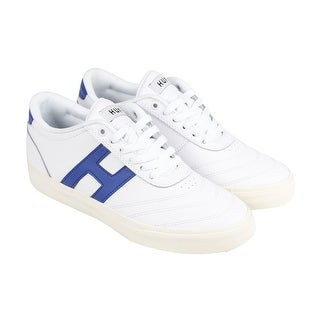 HUF Galaxy Mens White Leather Lace Up Sneakers Shoes