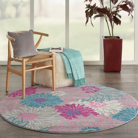Nourison Passion Abstract Modern Floral Area Rug