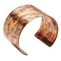 """Women's Flamed Copper Cuff Bracelet - 1 1/2"""" Wide"""