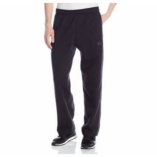 Adidas NEW Black Mens Size Small S Button-Leg Athletic Fleece Pants