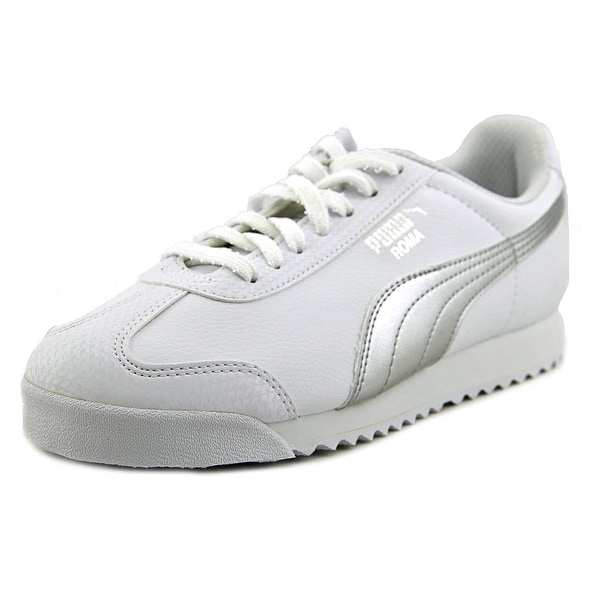 Puma Roma L Metallic Round Toe Leather Sneakers