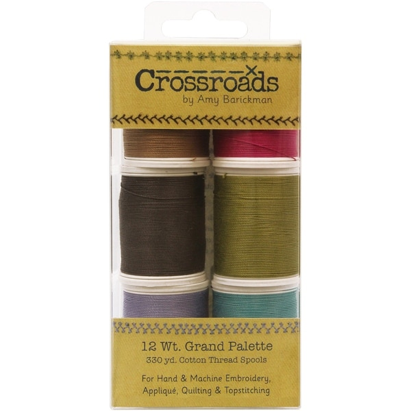 Crossroads Sulky Blendables 12 Weight 6/Pkg-Grand Collection