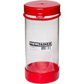 "Red - Viewtainer Tethered Cap Storage Container 3.625""X8"""