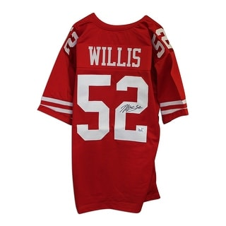 Patrick Willis San Francisco 49ers Autographed Red Throwback Jersey