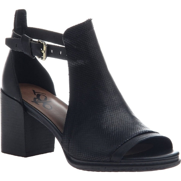 OTBT Womens Metaphor Leather Open Toe Ankle Fashion Boots