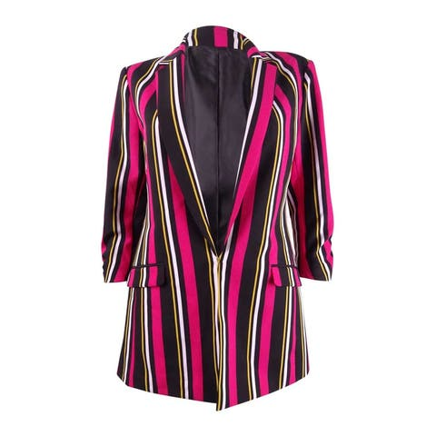 INC International Concepts Women's Striped Blazer (XS, Posh Stripe) - Posh Stripe