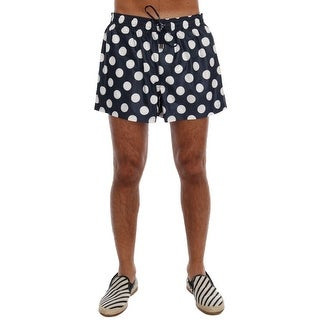 Dolce & Gabbana Blue Polka Dot Beachwear Shorts - XL