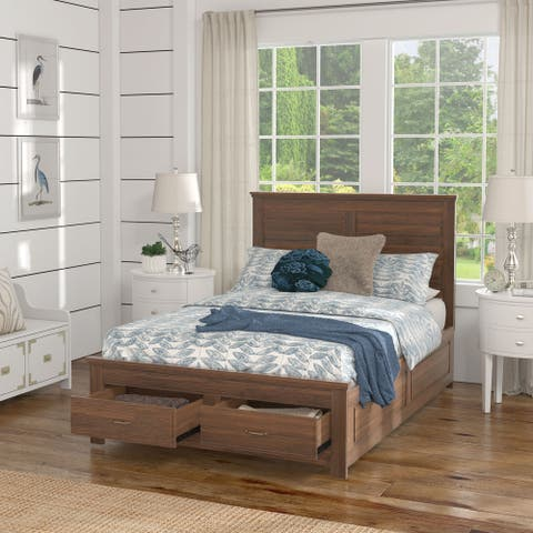 Tatum Wood Panel Platform Bed with Storage by iNSPIRE Q Classic
