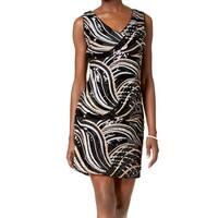 SLNY Black Women's Size 14 Sheath Sequined V-Neck Mini Dress