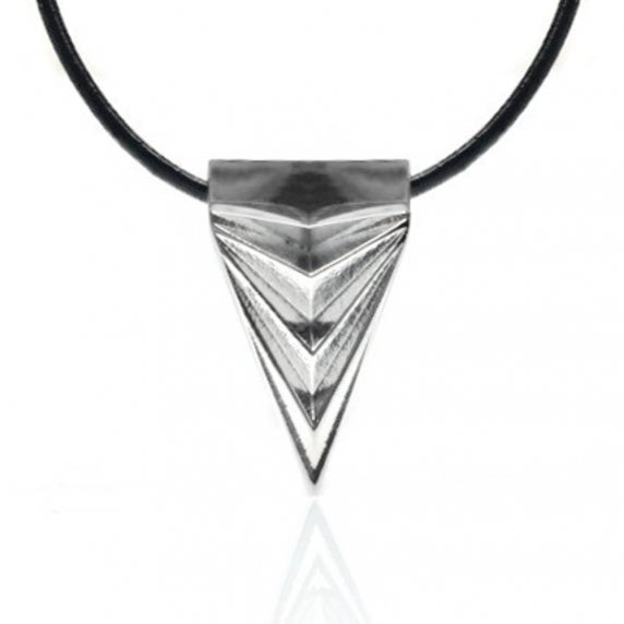 Loralyn Designs Mens Womens Stainless Steel Silver Triangle Necklace