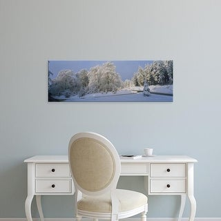Easy Art Prints Panoramic Images's 'Trees on a snow covered landscape, Hochwald, Rhineland