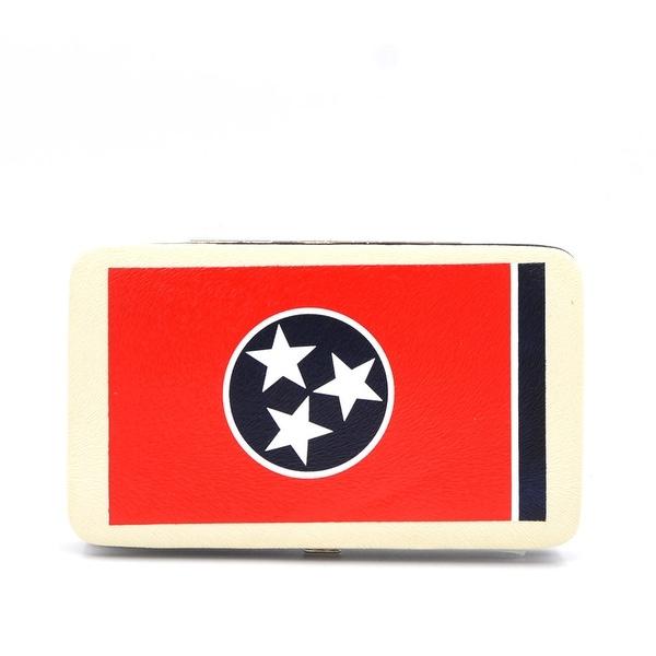 7c89c3b2c3c Shop Tn-Aw005F Tennessee Flag Print Frame Wallet - Color - Black ...