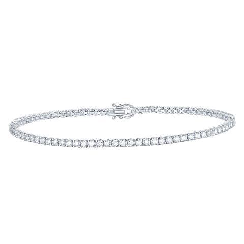 Smiling Rocks Essentials Collection 2.06Ct G-H/VS1 Lab Grown Diamond Bracelet