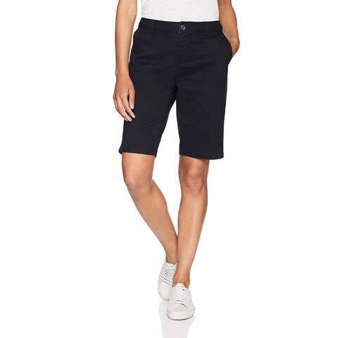 "Essentials Women's 10"" Inseam Solid Bermuda Short Shorts, -black, 12"