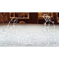 Sienna  R6404123 Lighted Nativity Set Christmas Decoration, White, Metal