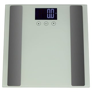 Sunnydaze Digital Precision High-Accuracy Body Fat Bathroom Scale with Step-On Technology and LCD Back-Lit Screen