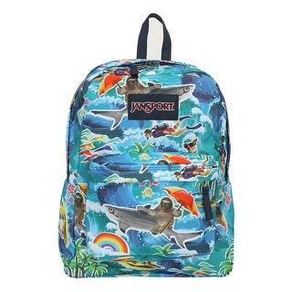 JanSport Superbreak Backpack, Multi Wet Sloth - multi wet sloth