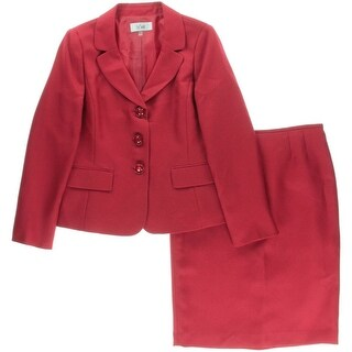 Le Suit Womens Textured 2PC Skirt Suit
