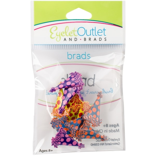 Eyelet Outlet Shape Brads 12/Pkg-Party Hat
