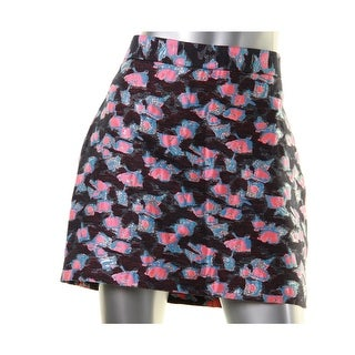 Milly Womens Mini Skirt Brocade Petal